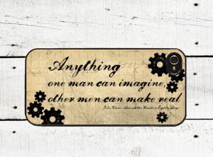 Jules Verne Quote iphone Case - iPhone 4 Case - iPhone 5 Case -Around ...