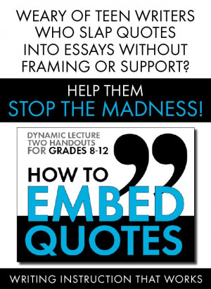 embedded quotes in essay