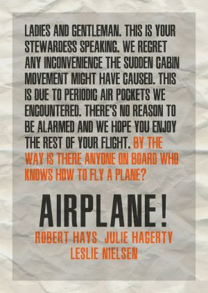 Typography poster experiment 1: Airplane by lordsonny