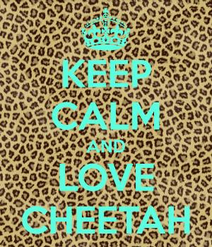 KEEP CALM AND LOVE CHEETAH
