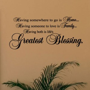 Home Family Blessing Vinyl Lettering Wall Art Sayings