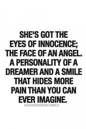 kushandwizdom.tumblerInnocent Quotes, Her Smile Quotes, Dreamer Quotes ...