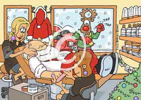 Personalsied beauty salon christmas card