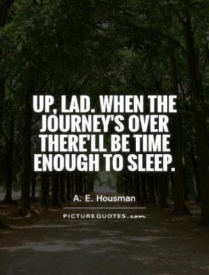 Sleep Quotes A E Housman Quotes