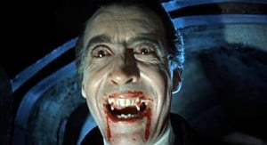 Christopher Lee as Count Dracula Trackdelphi (Wikimedia Commons)