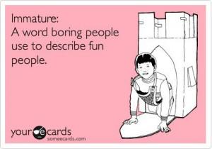 Boring peeps are never fun!