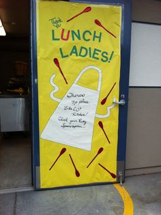 2013 Door for the Cafeteria Staff. Wizard of OZ theme. More