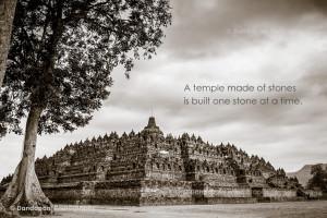 The magnificent Borobudur Temple in Central Java, Indonesia.