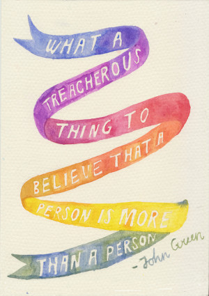 ... watercolor type john green DFTBA nerdfighters paper towns rocketrictic
