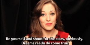 Quote from the amazing Laura Osnes