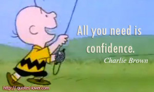 All you need is confidence. #CharlieBrown #peanuts #peanutallergy # ...