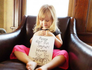 ... like bad guys': Little girl's funny quotes inspire dad's drawings