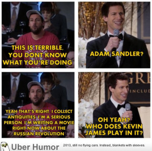 Adam Sandler's Brooklyn Nine Nine cameo.