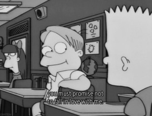 bart, fall in love, impossible, love, quote, simpsons, simpsons quotes ...