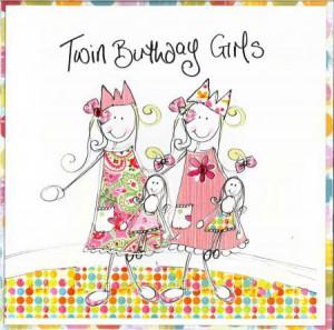 Twin Girls Birthday Card (TR) | Twins Birthday Cards Age 1 -80 | Cards ...