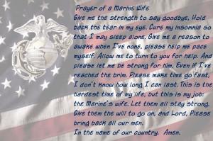 Marine Wife Prayer Picture