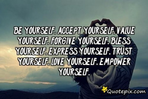 Yourself Accept Value
