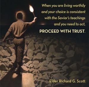 LDS Quote, Elder Richard G. Scott