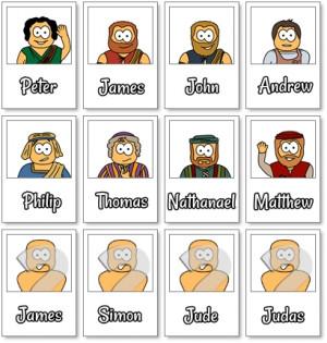 Jesus 12 Disciples Names