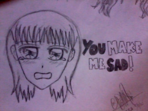 you make me sad created by me shooooot created by