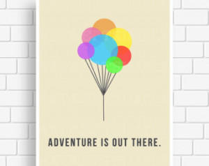 Up Movie Quotes Adventure Instant download up minimalist