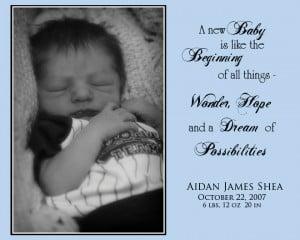 Welcome Baby Aidan!!
