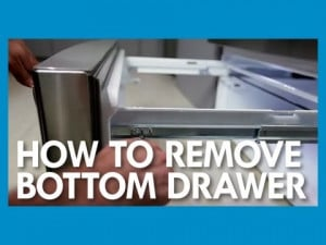 How to Remove the Bottom Freezer Drawer