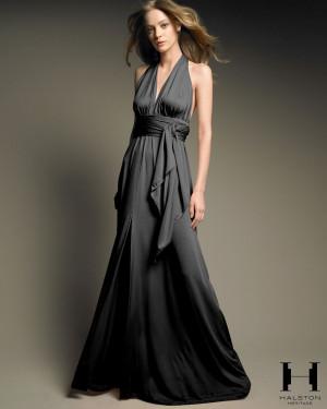 Halston Heritage Long Black Dress