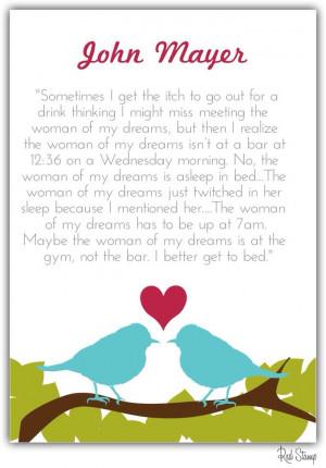 The woman of my dreams - John Mayer
