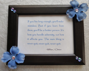 CLEARANCE / SALE Never Quit- Inspirational Quote Picture Frame - Gift ...