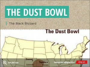 Infographic: the dust bowl dust bowl quote - Dasia Shepherd