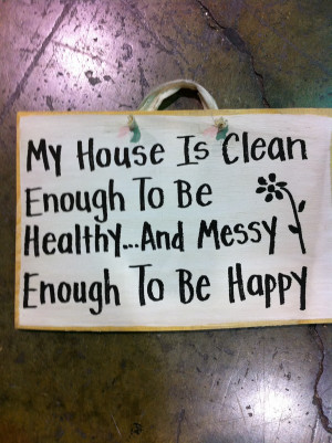 messy house quotes
