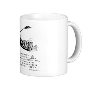 Aristotle Quote - Beauty of Math Quotes Sayings Coffee Mug