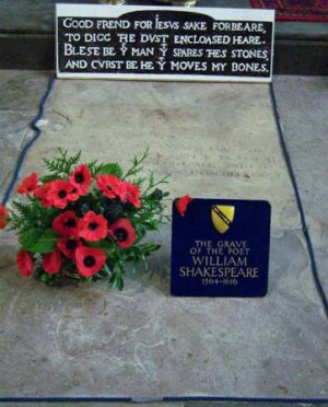 Shakespeare's grave » Click to zoom ->