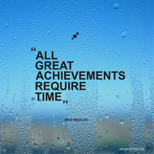 Motivational Quotes All great achievements require time Maya Angelou ...