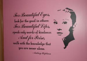 Catalog > For Beautiful Eyes, Audrey Hepburn Vinyl Wall Design