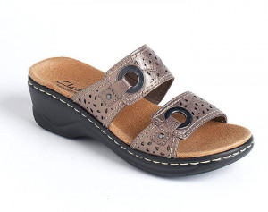CLARKS Lexi Laurel Leather Platform Sandals found on sale at LORD