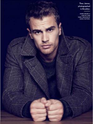 Theo James dans le magazine Vanity Fair