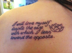 ... tattoo up but here it is! It's a Shane Koyczan quote from the Ted