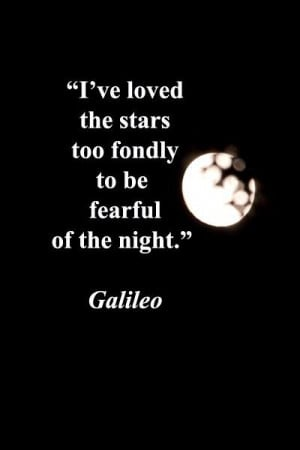 Download Wallpaper on Stars with Quote By Galileo