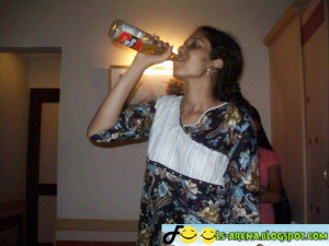 Funny Indian Women Drinking Beer - Very Funny