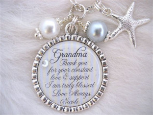 ... quote necklace Beach Jewelry Love and Support Wedding Beautiful quote