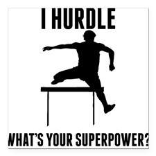 Hurdle Whats Your Superpower? Square Car Magnet for