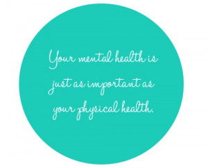 ... take some time for your own mental health is crucial to your success