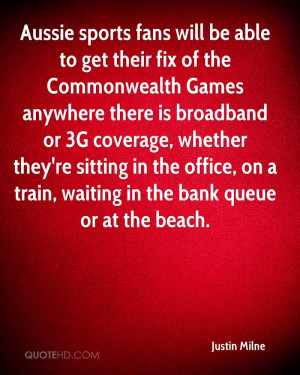 Aussie sports fans will be able to get their fix of the Commonwealth ...