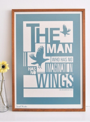 frame, imagination, muhammad ali, quote, wings - inspiring picture on ...
