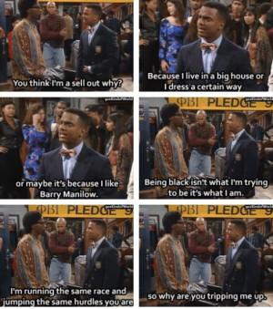 Carlton keepin' it real.