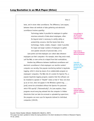 How to embed long quotes in essay