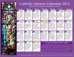 Catholic Advent Calendar 2012