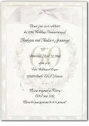 ribboned 60th anniversary invitation